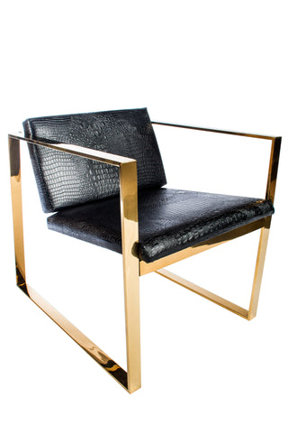 PS178010-Philippe Gold Lounge Chair