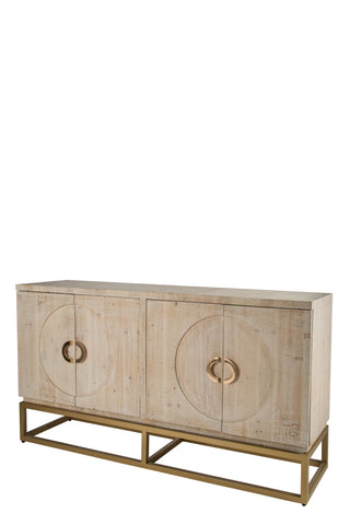 RA04091G-Toretto Sideboard with gold legs
