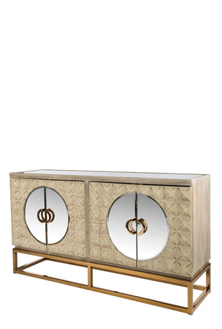 RA0409SG-Toretto Spike Sideboard with gold legs