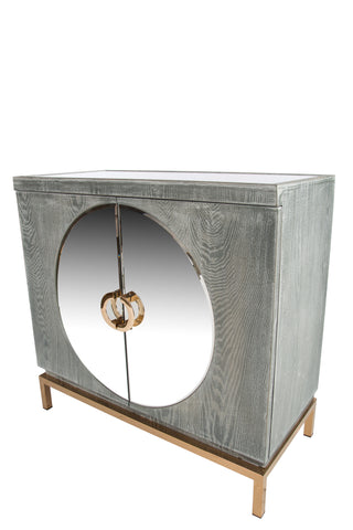 RA041SG-Toretto Accent Cabinet with gold legs