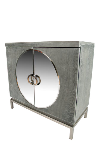 RA041SS-Toretto Accent Cabinet with silver legs