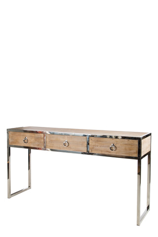 RH3107SS-Toretto Console Table with silver legs