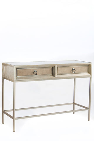 RH2562-Cassidy Mirrored Console Table