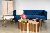 OSF1137SNB-Harper Tufted Sofa in Navy Blue