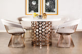 LC-2101ROSE-Mumu Platner Rose Gold Accent Chair