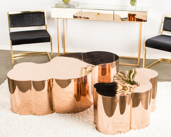 S5110 Luca Coffee Table In Rose Gold Statements By J