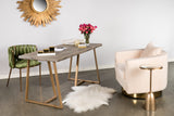 J-120C-Irina Swivel Barrel Chair in Cream