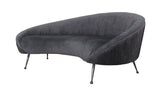 FOS402-GRY-Beatrice Curved Sofa in Gray