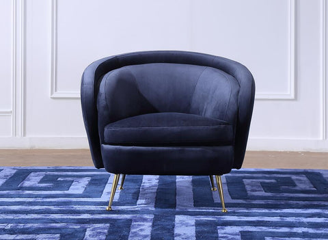 FOS383BLU-Palermo Accent Chair in Blue