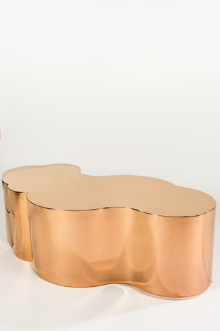 PRE-ORDER-S5110-Luca Coffee Table in Rose Gold