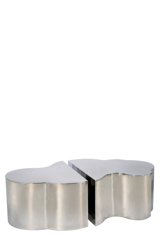 S5110SS-2-Set of 2 Luca Coffee Table in Silver