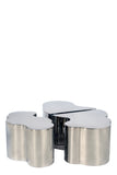 S5110SS-2-Set of 2 Luca Coffee Table in Silver-PRE-ORDER
