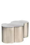 PRE-ORDER-S511S-Kate Coffee Table in Silver