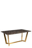 T-001-Tiana Marble Top Dining Table With Gold Legs