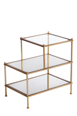 T-0034-Jayden 3 Tiers Mirrored End Table