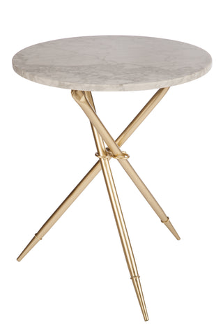 T-2946-Ethelle Marble Side Table
