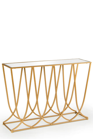 T1601-Chloe Console Table in GOLD