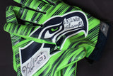 Autographed Game Worn Seahawk Logo Gloves