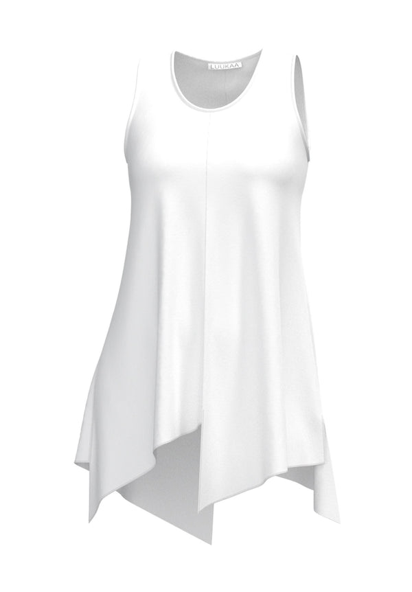 21Y122 Viscose Solid Tank-White