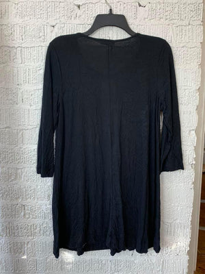 B3400 3/4 SLEEVE TUNIC-BLACK
