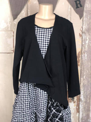 Crop Shrug- Black