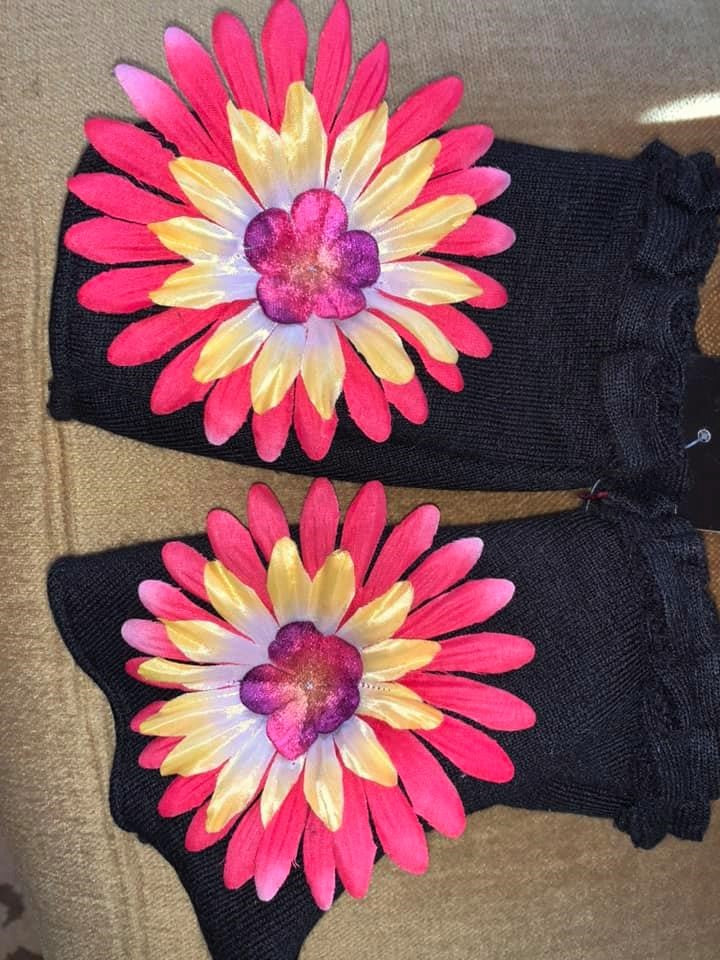 Multi Fingerless Mittens-E