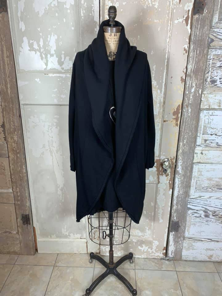 99121 Wrap Coat-Black