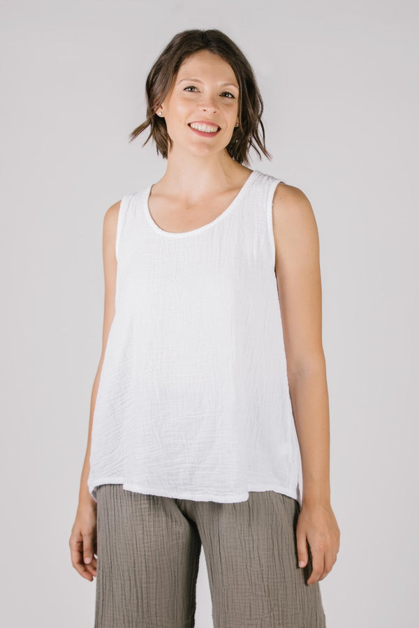 797 Katy Tank Top-White