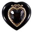 Blk Onyx double heart ring