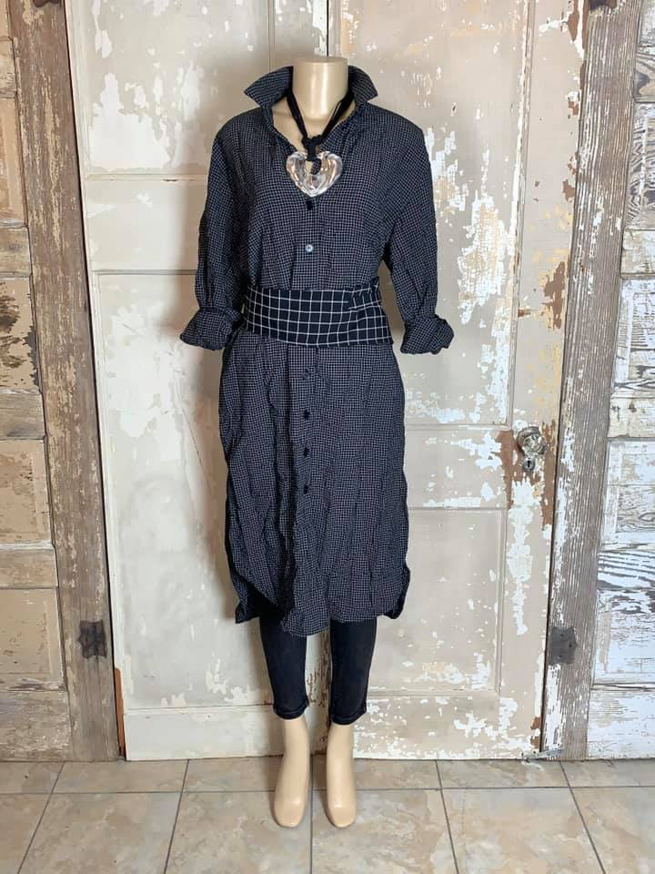 AMMA KA7015 Small Plaid Dress