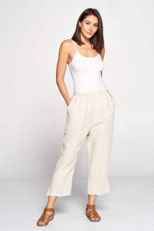 LP40 CAPRI PANTS-Natural