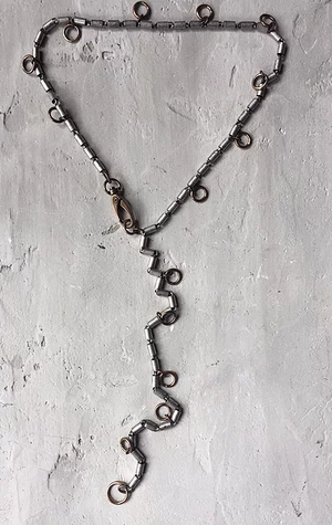 NE99 Brass Rings Necklace