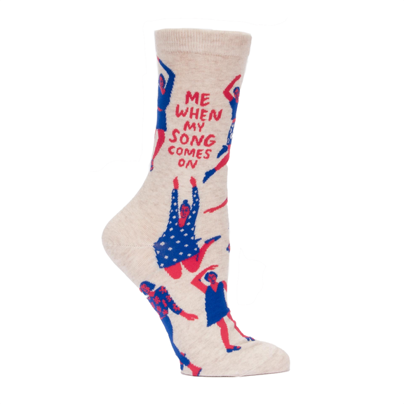 Blue Q's Crazy Talk Socks-When My Song