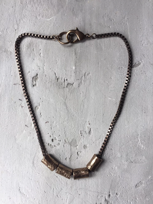 NE95B Small Brass Tube Chain