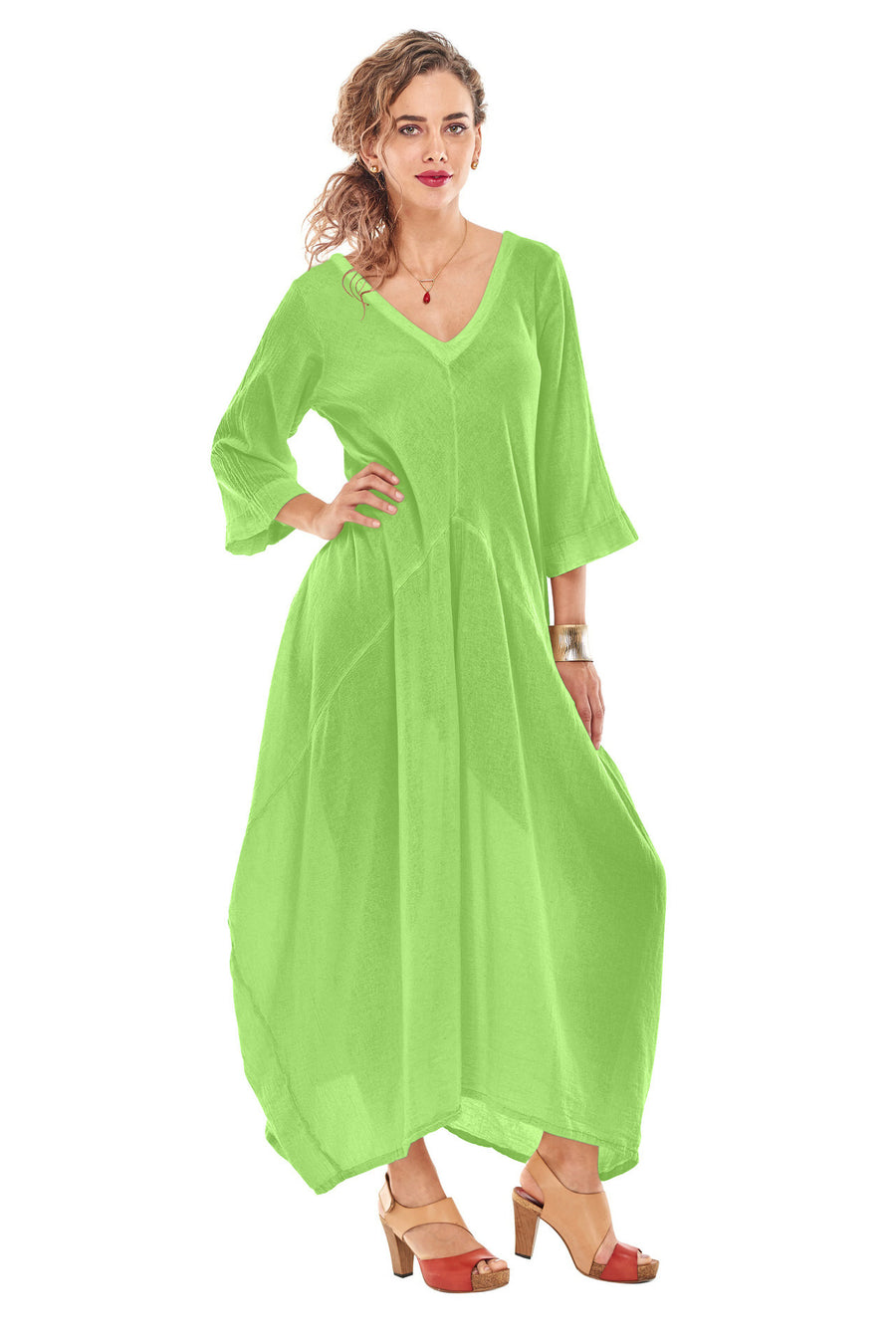 Oh My Gauze Bella Dress-Pear