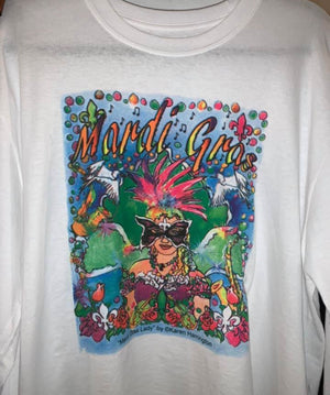 Long sleeve Mardi Gras Lady T-shirt