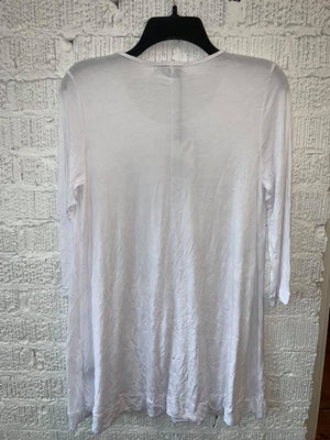 B3400 3/4 SLEEVE TUNIC-WHITE