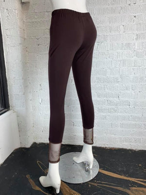 Reina Lee 1032T Mesh Bottom Legging-Brown