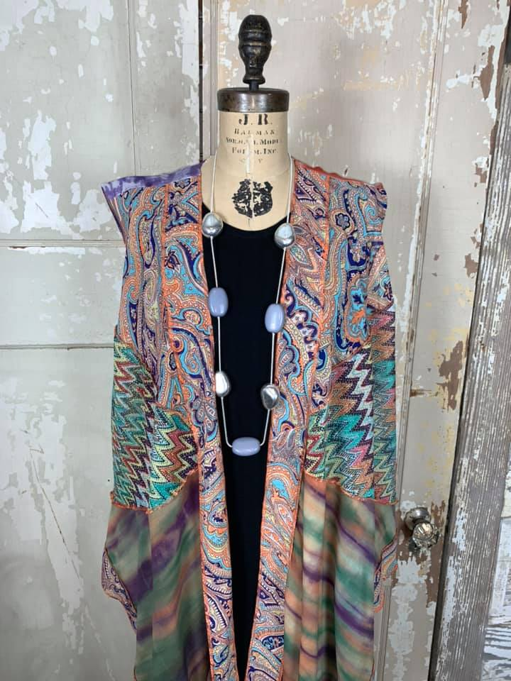 Mix Paisley Patch Vest