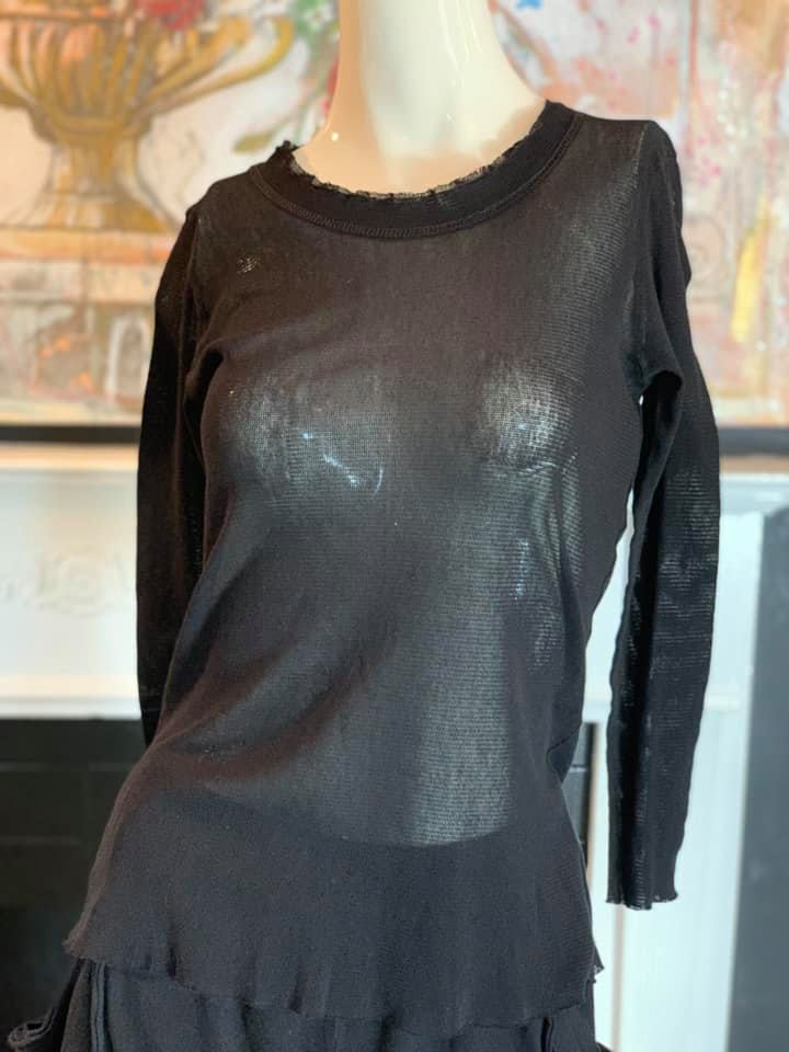 RCM010 Sheer Tee-Black