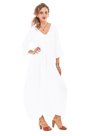 Oh My Gauze Bella Dress-Snow