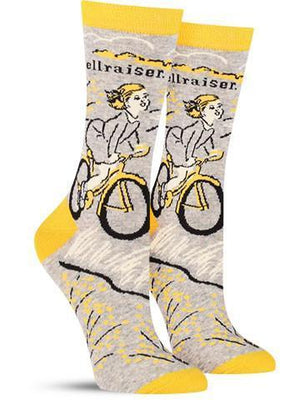 Blue Q's Crazy Talk Socks-Hellrasier