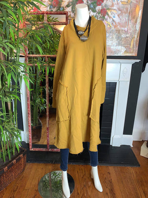 CN2120 Pocket Dress-Turmeric