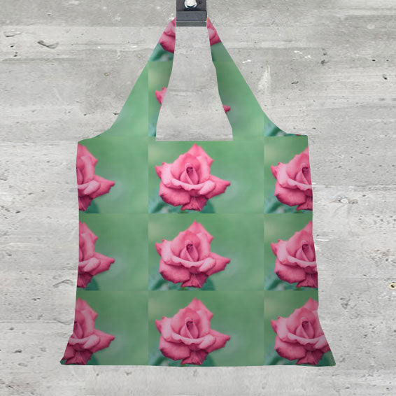 Foldaway Tote - Tea rose IV by VIDA VIDA
