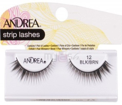 Andrea Strip Lashes - Style 12 (Brown/Black)