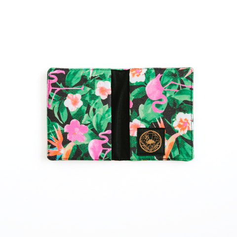 Flamingos Black Wallet