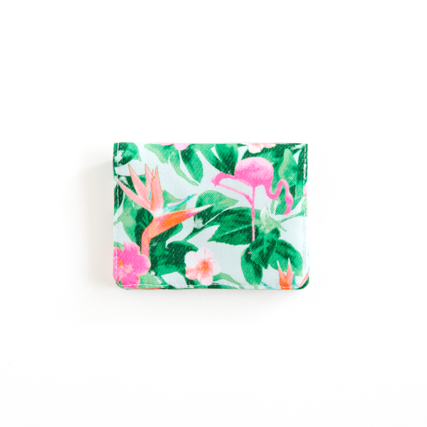 Flamingos Teal Wallet