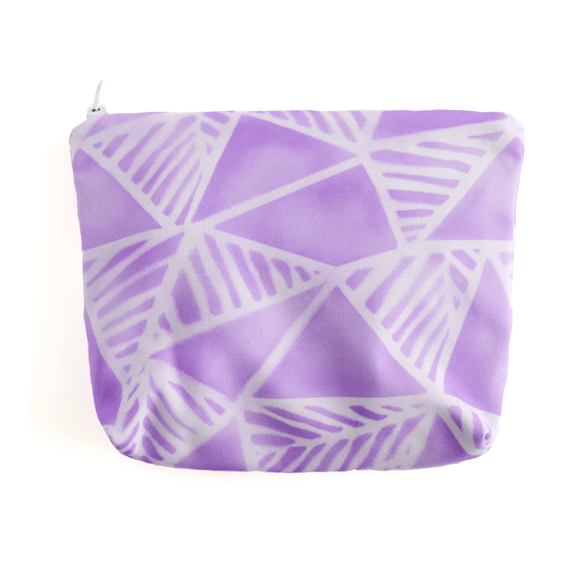 Geo Palms Violet Essentials Pouch