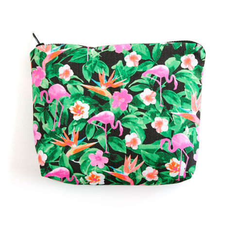 Flamingos Black Essentials Pouch