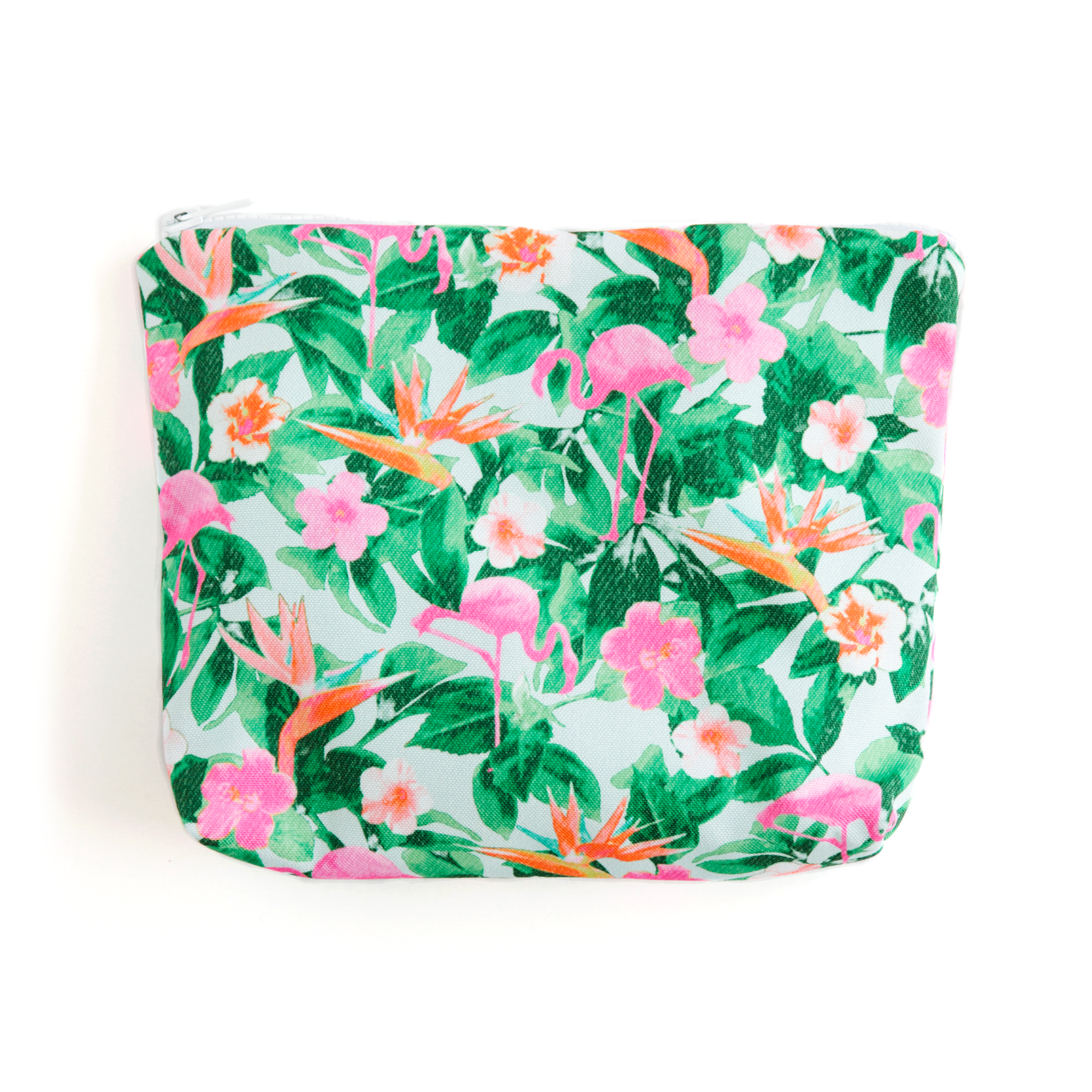 Flamingos Teal Essentials Pouch